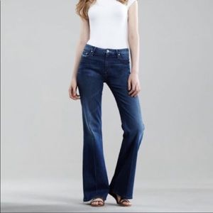 """Mother 10""""High Rise Wide Flare Leg Hippie Jeans"""